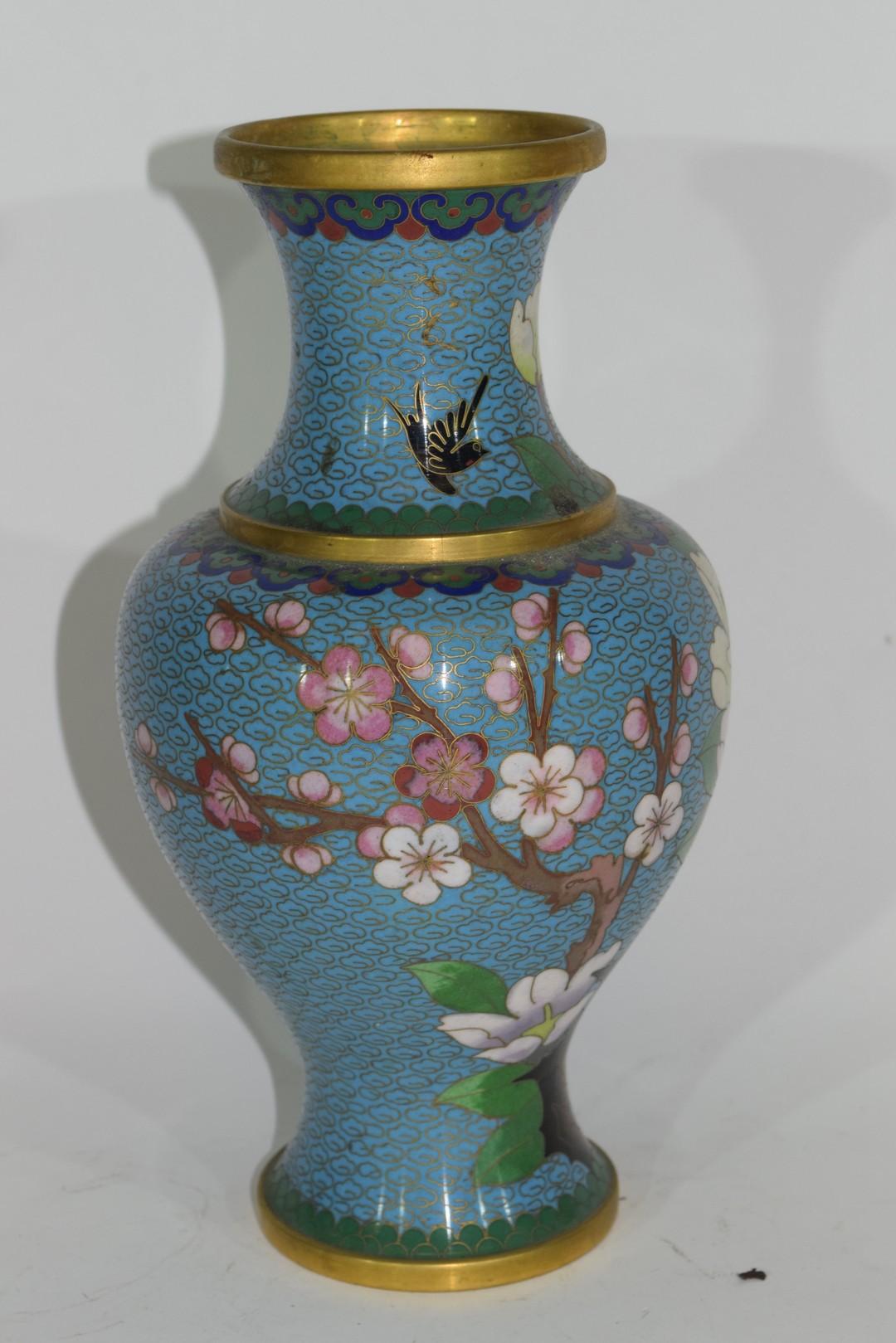 Cloisonne vase - Image 4 of 4