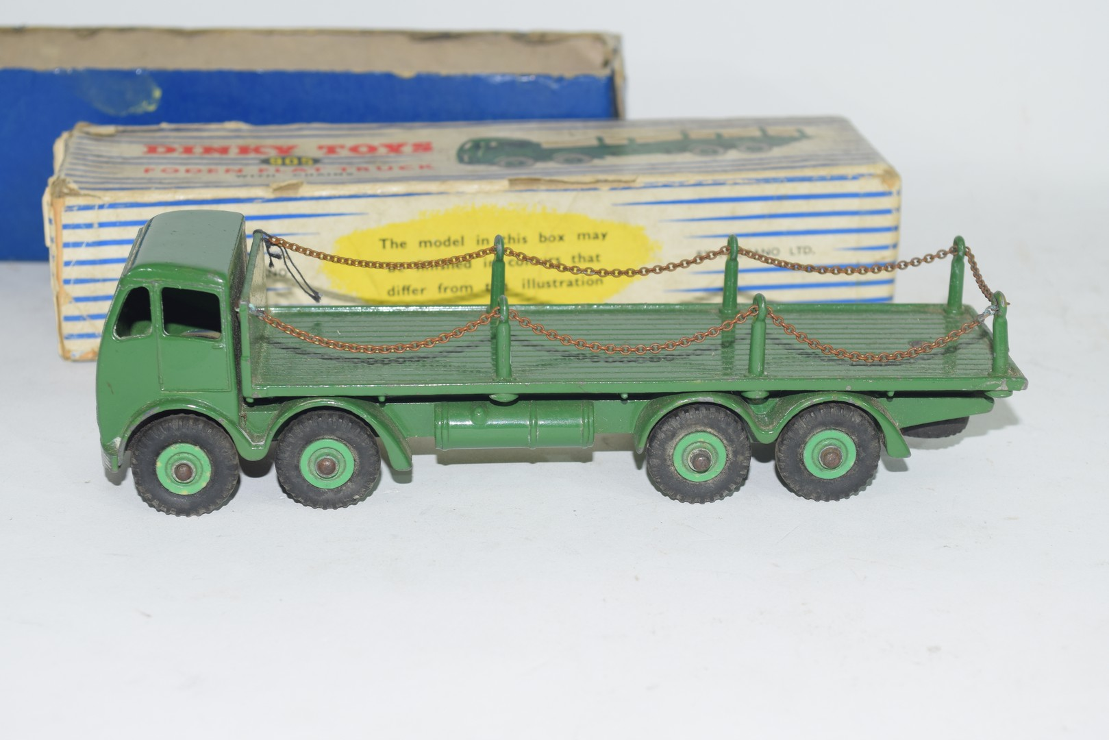 Dinky Supertoys Foden flat truck with chains, No 905 - Image 4 of 5