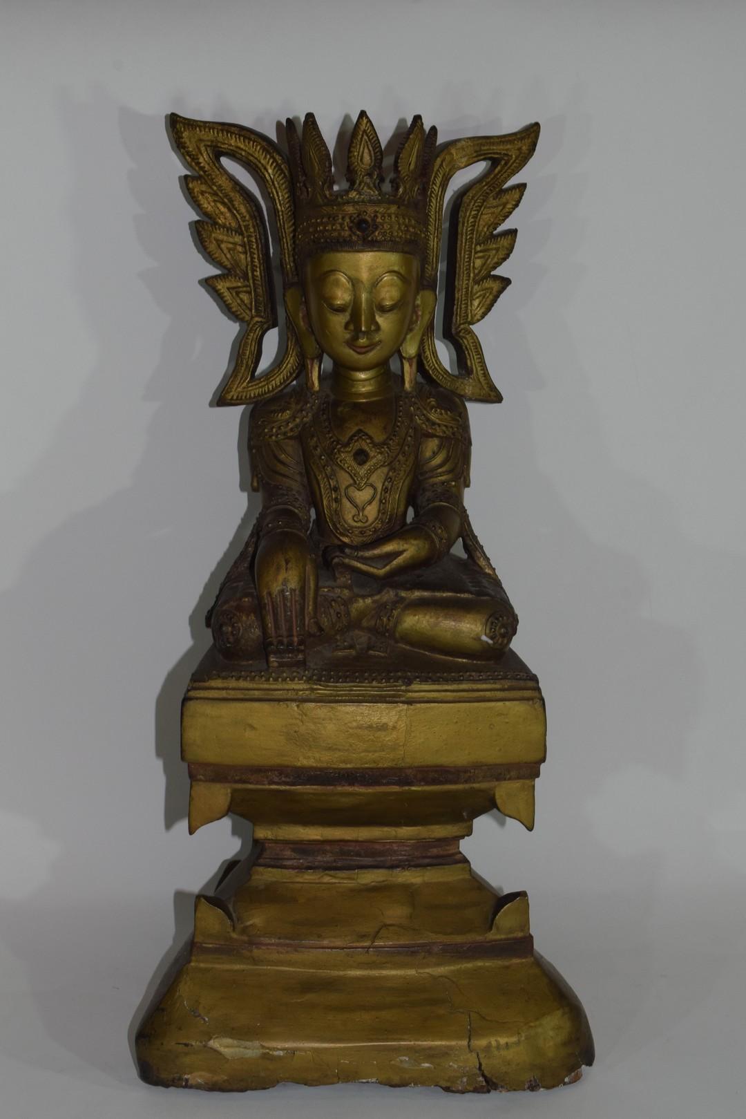 Wooden model of Maitreya