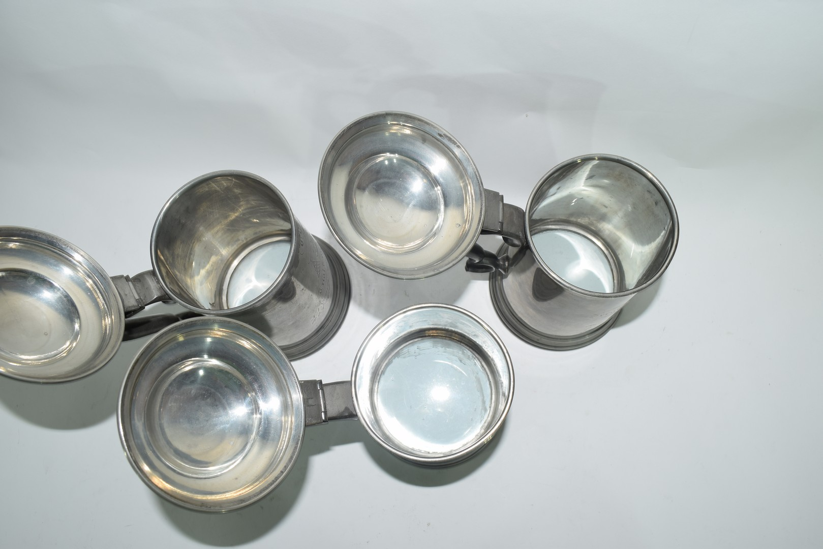 Three pewter tankards from Christchurch College, Oxford - Image 4 of 4