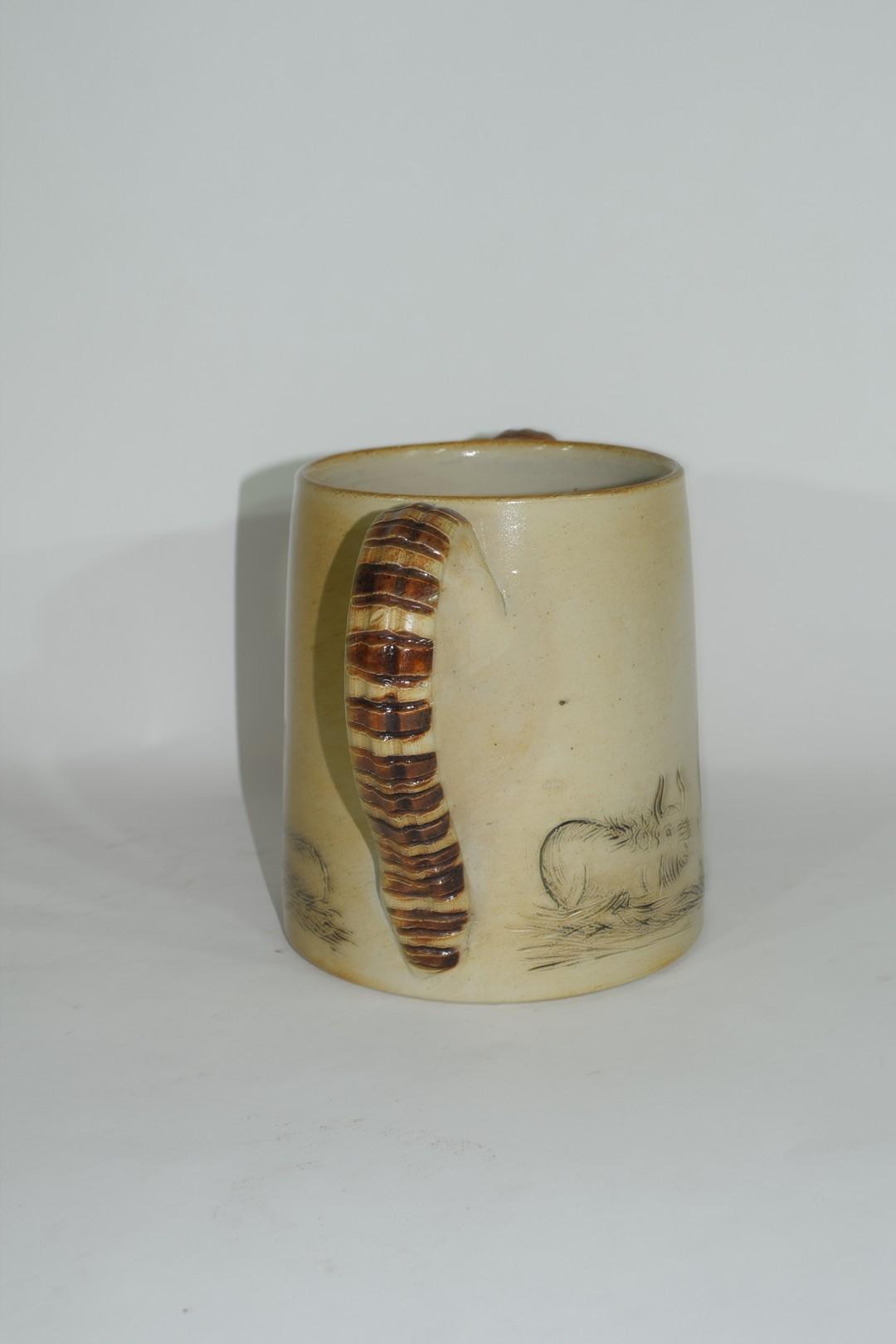 Smith & Co salt glazed two handled mug or tyg - Image 2 of 6