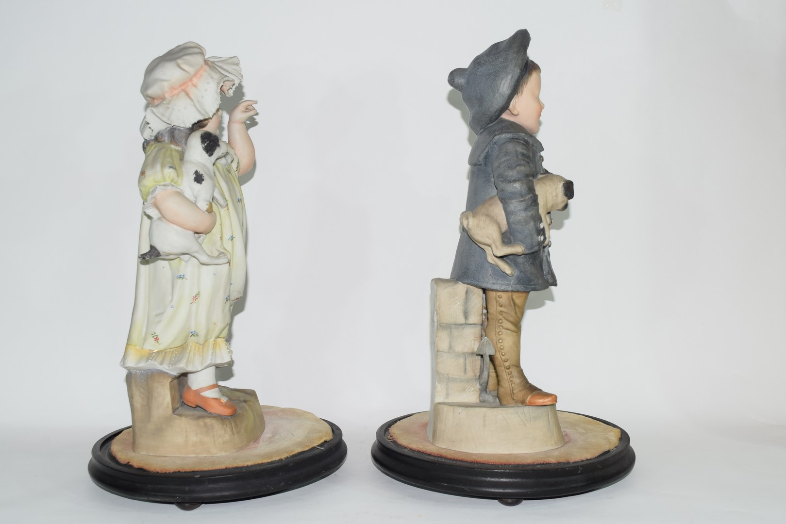 Pair of late 19th century Continental bisque figures of a boy and girl - Image 4 of 4