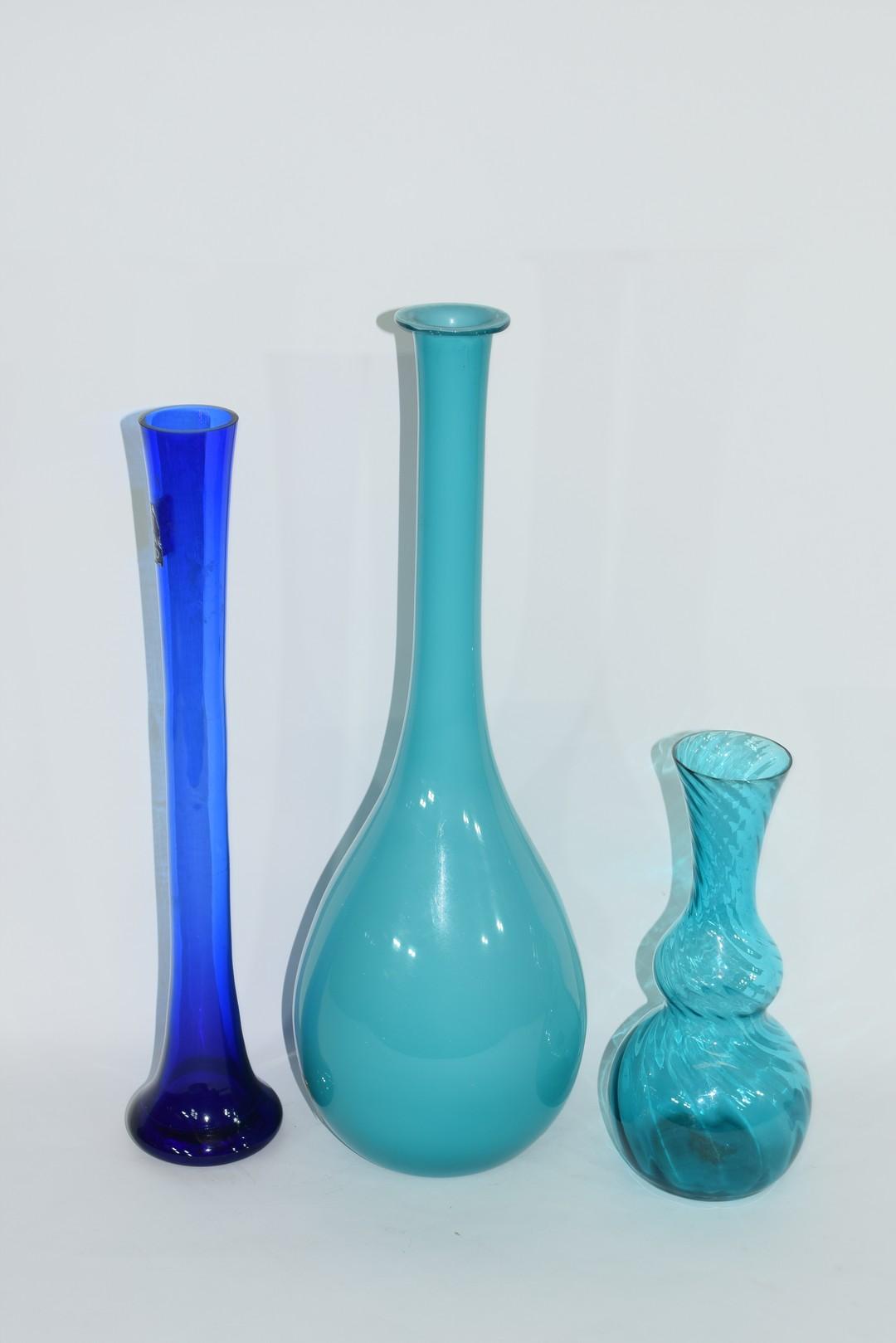 Three Art glass vases - Image 2 of 2