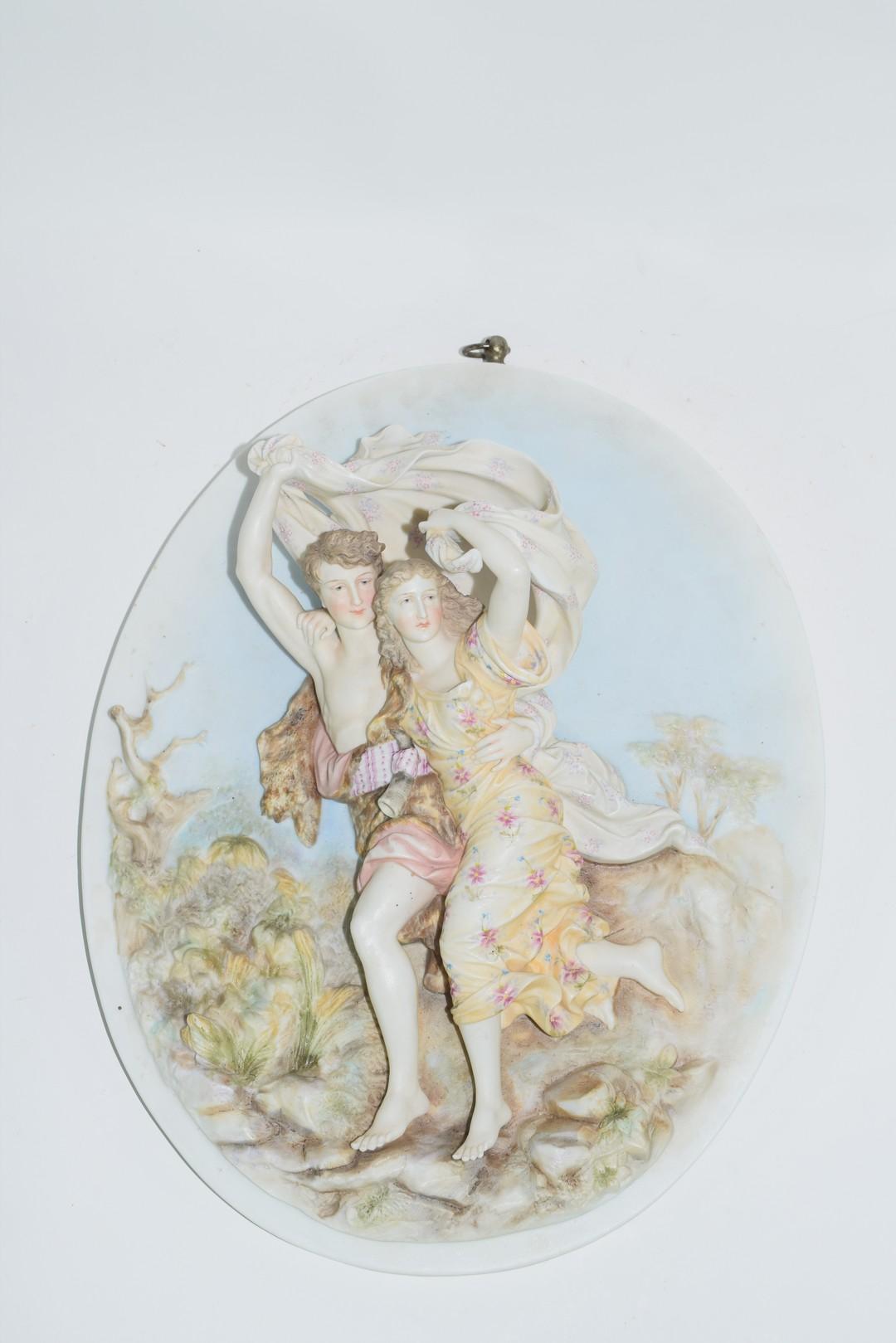 Continental late 19th century porcelain plaque