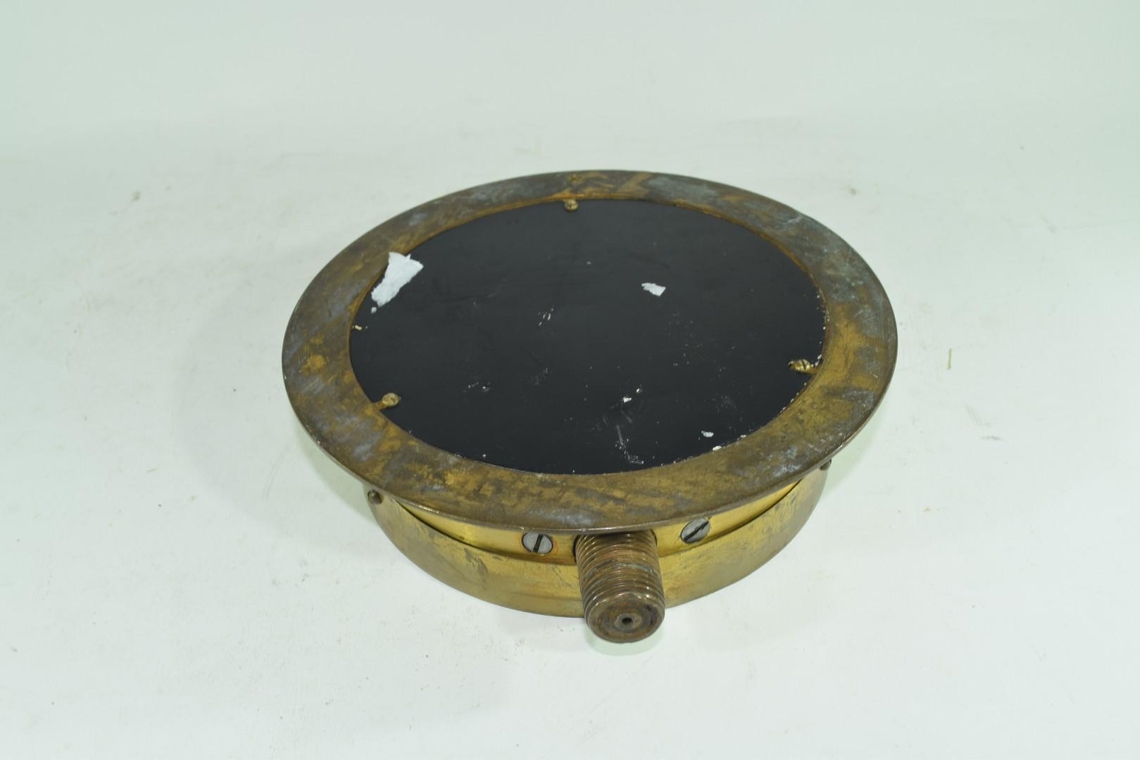 Vintage brass cased pressure gauge - Image 4 of 4