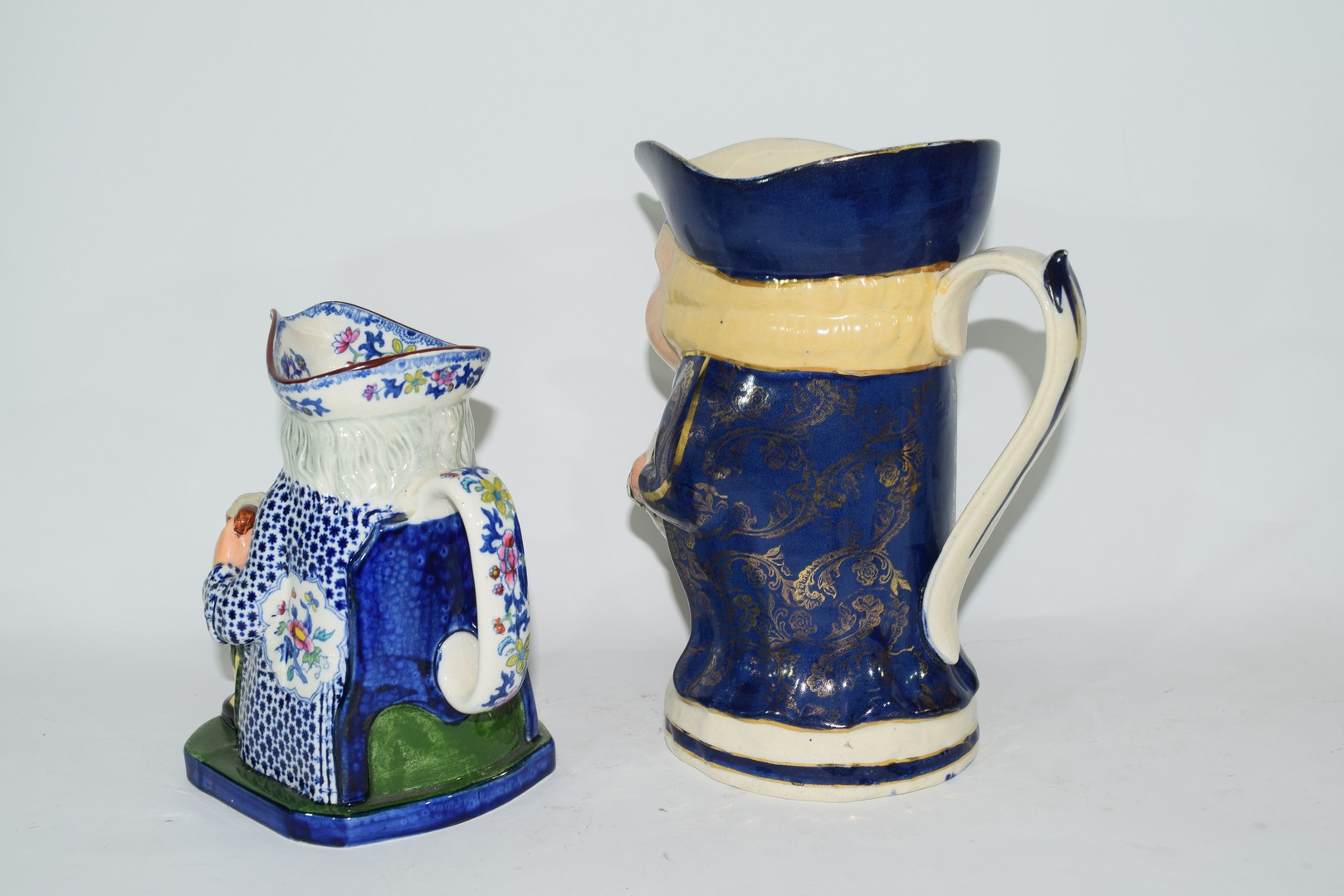 Two English pottery Staffordshire type Toby jugs - Image 2 of 6