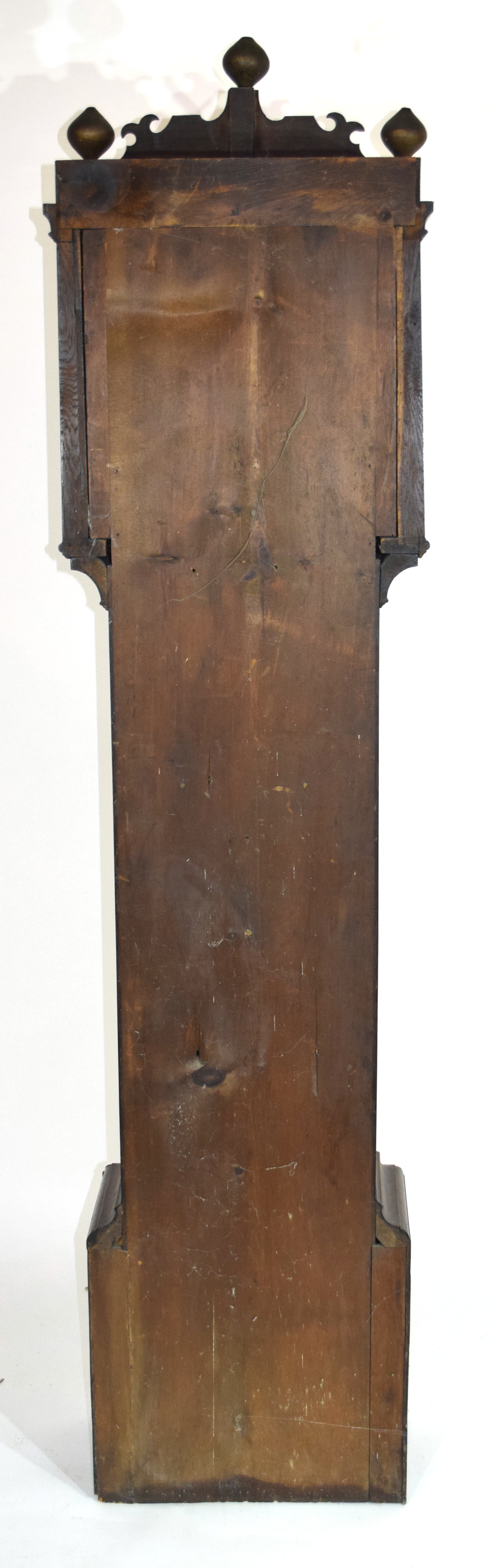 William Nash, Bridge, (Kent) 18th century oak cased longcase clock, the brass and silvered face with - Image 4 of 4