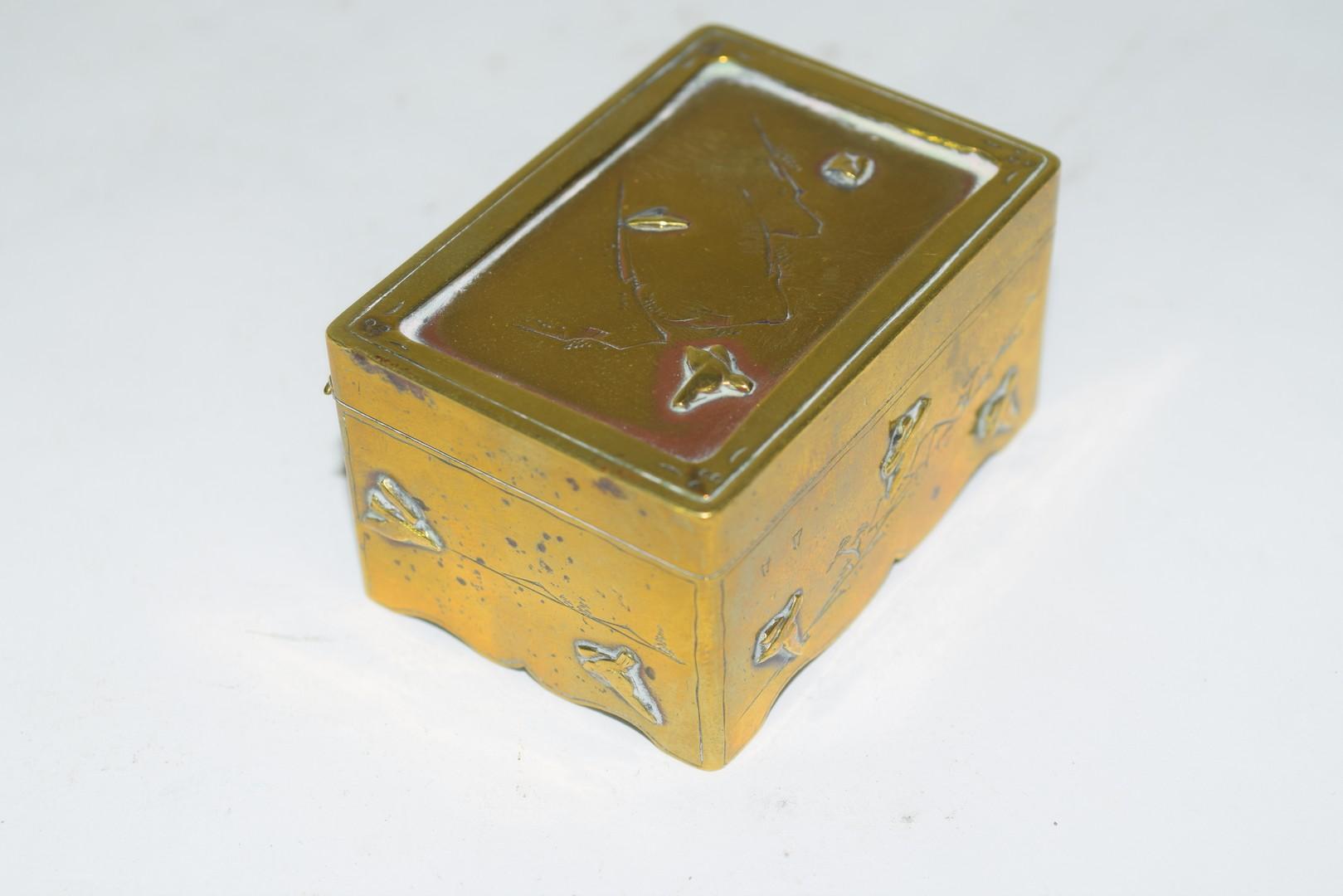 Small Chinese brass box - Image 4 of 6