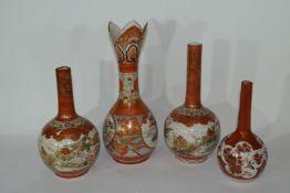 Group of Japanese Kutani style vases