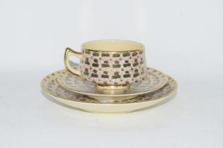 Twelve piece Satsuma tea set