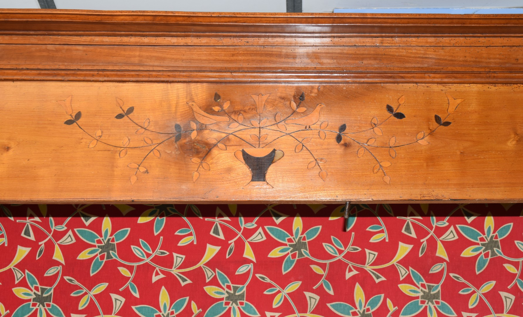 Large inlaid armoire, width approx 140cm Condition: Appears structurally sound^ minor splitting to - Image 4 of 5