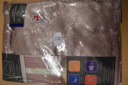 DESIREE EYELET ROOM DARKENING CURTAINS, PINK, 76INS X 72INS