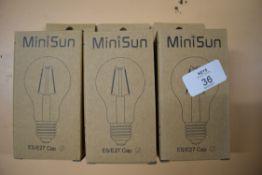 3 MINISUN E27 LIGHT BULBS, VINTAGE STYLE LED BULB