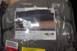 BOX CUSHION SOFA SLIP COVER, GREY