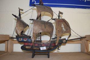 MODEL THREE-MASTED SHIP