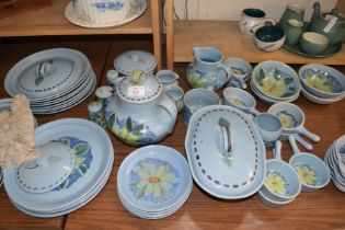 QTY OF BUCHAN EDINBURGH FLORAL DECORATED TEA AND DINNER WARES