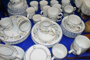 STAFFORDSHIRE TABLE WARE HAMPTON COURT PATTERN DINNER AND TEA SERVICE