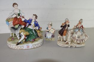 THREE VARIOUS CONTINENTAL FIGURE GROUPS