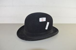 VINTAGE BOWLER HAT BY ALFRED COLE & SONS, CHURCH ST, ENFIELD