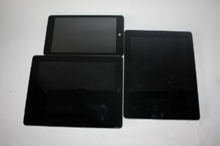 Pair of i-pads together with Lynx tablets