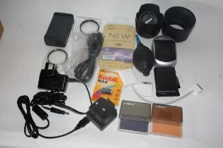 Collection of accessories to include filters
