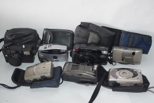 Mixed lot of cameras to include an Olympus AF/10 XB