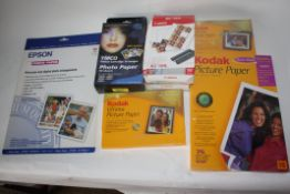 Large lot of photo paper