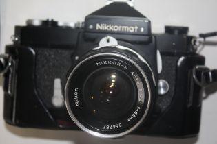Nikkormat film camera