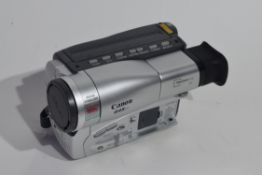 Canon G45-HI 8mm video camcorder with leads and case