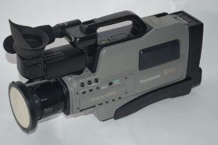 Panasonic SVHS Super VHS together with leads and a hard case