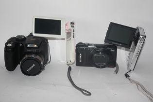 Fuji film S5800, a Toshiba Camileo S10, Fujifilm F500 and a Medion camcorder