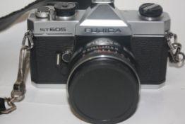 Fujica ST605 film camera with accessories