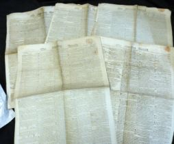 Packet: The Morning Herald, 23 July 1812 + 4 issues from 1816 (5)