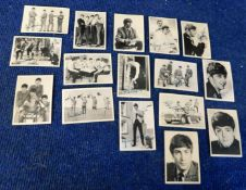 A & B C Gum, 1964 Beatles trade cards 16/60, numbers 2, 11, 19-20, 22, 25, 28-31, 33, 38, 41, 50,