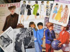 Box: large quantity costume patterns