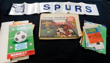 Box: sporting interest, mainly soccer including quantity of programmes