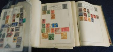 World, mainly used stamp collection in two Movaleaf albums, mainly Junior ranges (2)