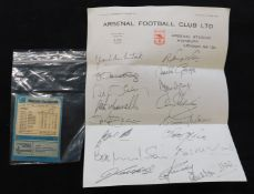 Box Arsenal FC interest with 100+ programmes 1949-1993 including 80+ 1951-55 + 7 away programmes