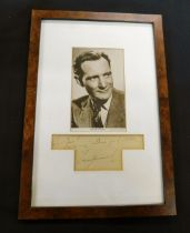 TREVOR HOWARD (1913-1988) autograph inscribed ...~with my sincere good wishes~ in glazed frame