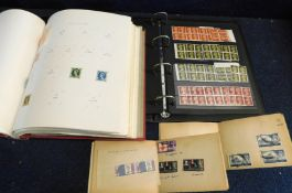 Box: two albums, two stock books and assorted loose mainly GB mint and used stamps, Queen Victoria