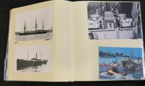 Modern album: shipping interest, photographs and postcards