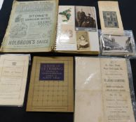 Small box assorted ephemera including some vintage picture postcards with real photos of Norwich