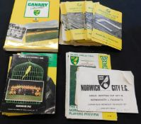 Box Norwich City FC programmes and related items plus a few other soccer programmes including 1961