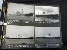 Album: shipping interest photographs, all captioned with descriptions etc