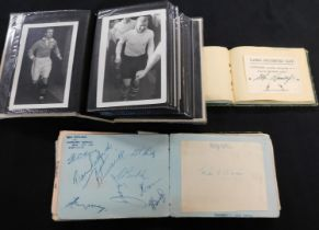 Two autograph albums, well filled with soccer and cricket autographs, late 1940s-50s, soccer