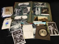 Old postcard album circa 200 postcards, plus approximately 70 loose, predominantly early, many