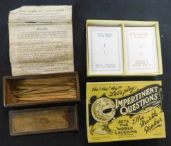 Vintage late Victorian table game ~The Game of Spellicans~, 24 wooden spillikins and 2 hooks with