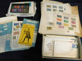 World mint and used stamp collection in 11 albums, mainly South America plus some first day covers