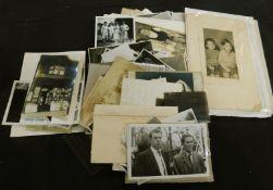 Four boxes assorted mainly vintage photographs including carte de visite and cabinet photos plus