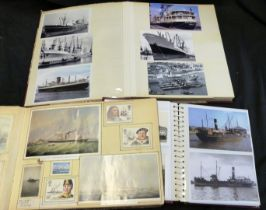 Three albums: shipping related, photograph and related items (3)